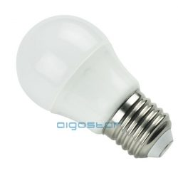 LED izzó G45 4W, E27 foglalattal,  meleg fehér 3 év Garancia,