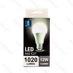 Aigostar LED Gömb izzó A60 E27 12W Hideg fehér 280° dobozos