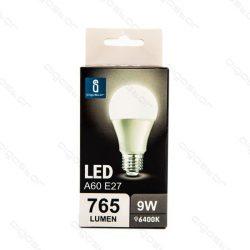 Aigostar LED Gömb izzó A60 E27 9W Hideg fehér 280° dobozos