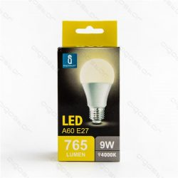 Aigostar LED Gömb izzó A60 E27 9W Természetes fehér 280° dobozos