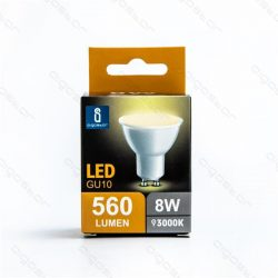 Aigostar LED Spot izzó GU10 8W Meleg fehér dobozos