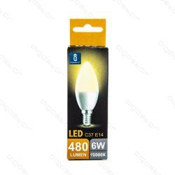 Aigostar LED Gyertya izzó E14 6W Meleg fehér 260° dobozos