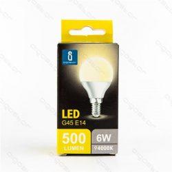 Aigostar LED  izzó G45 E14 6W Természetes fehér 230° szórásszögű dobozos