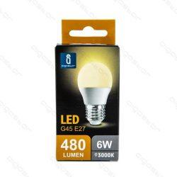 Aigostar LED Gömb izzó G45 E27 6W Meleg fehér 230° dobozos